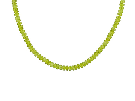 Peridot Bead Necklace