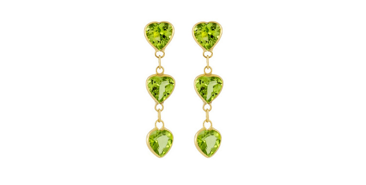 solitaire earrings peridot tourmaline womens stone red jewelry
