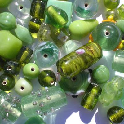 Peridot Fancy Bead Mix