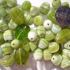 Peridot Marble Bead Mix
