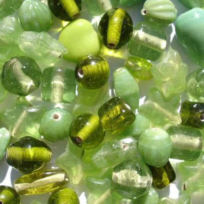 Peridot Plain Bead Mix