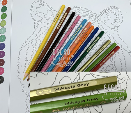 Personalied Coloured Pencils