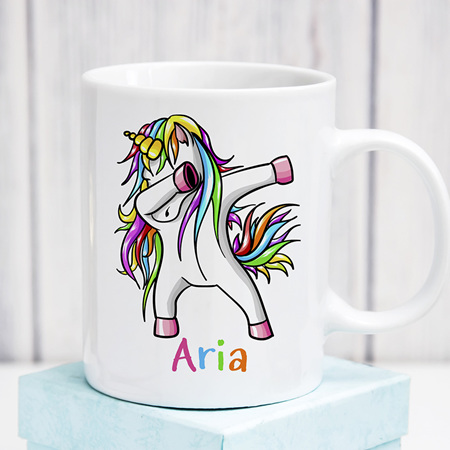 Personalised Dancing Unicorn Mug
