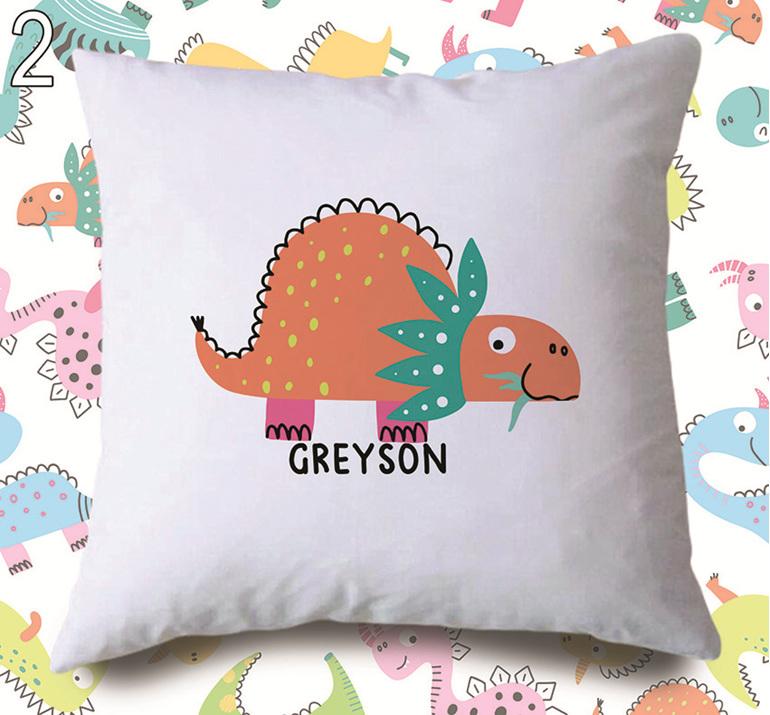 personalised dinosaur cushion