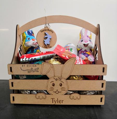 Personalised Easter Bunny Basket