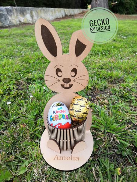 Personalised Easter Bunny Egg Basket