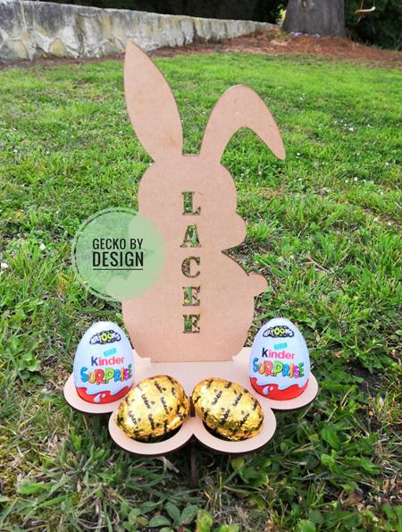 Personalised Easter Bunny Egg Holder