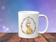 Personalised Floral Oval  Bunny Mug