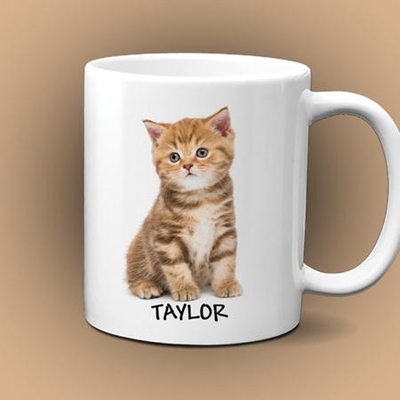 Personalised Kitten Mug