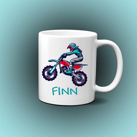 Personalised Motorcross Motorbike  Mug for kids