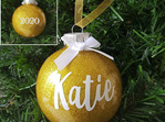 Personalised Name Glitter Ornament