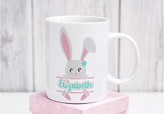 Personalised Pink Bunny Mug