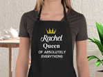 personalised queen of everything apron