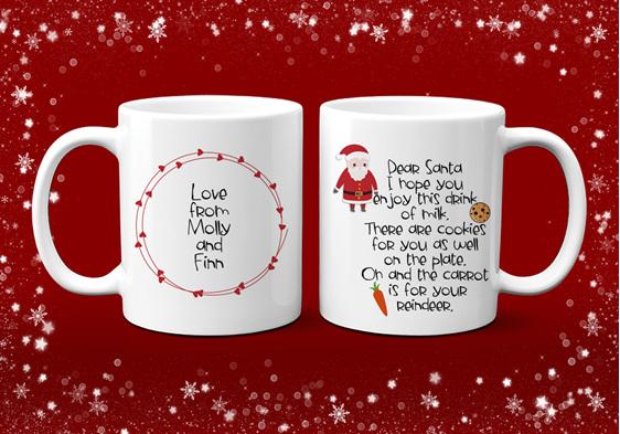 Personalised Santa's Milk Mug
