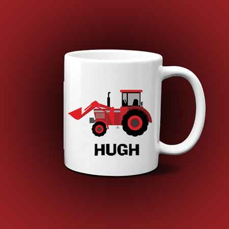 Personalised tractor Mug