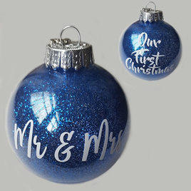 Personalised Wedding Christmas Ornament
