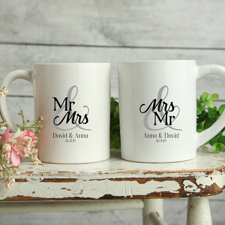 Personalised Wedding Mugs  Anna Design