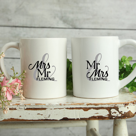 Personalised Wedding Mugs Fleming Design