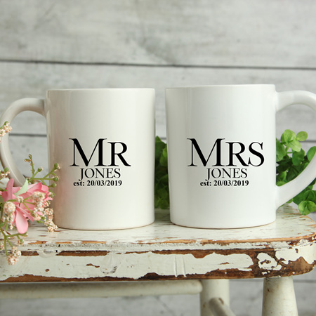 Personalised Wedding Mugs Jones Design
