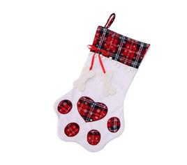 Pet Christmas Stocking - White & Red