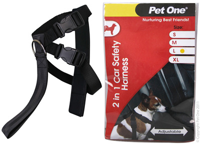 Pet One 2 n 1 Car Safety Harness