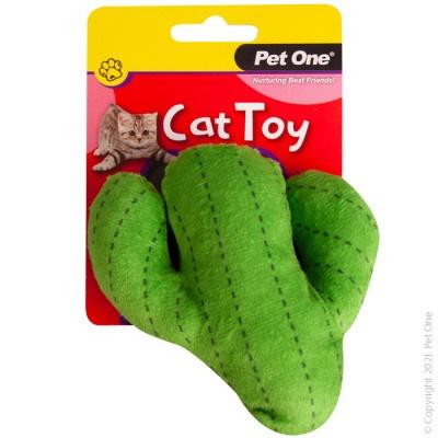 Pet One Cat Toy - Plush Cactus