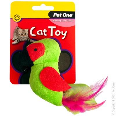 Pet One Cat Toy - Plush Parrot