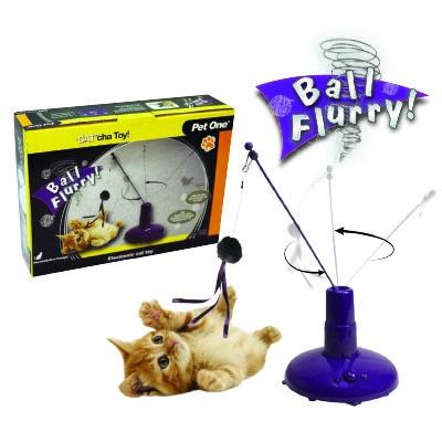 Pet One Cat'cha Cat Toy Ball Flurry