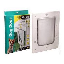 Pet One Dog Door - Single Glaze, Sliding Door Glass Fit
