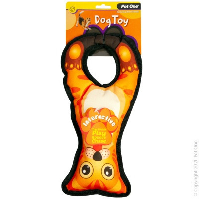 Pet One - Interactive Squeaky Tug Ring Cat
