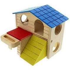 Pet One Mouse Playhouse Wooden Hidey House
