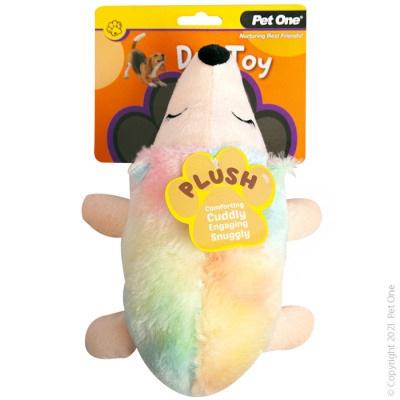Pet One - Plush Squeaky Rainbow Unihog