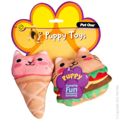 Pet One - Puppy Fast Food Pack (2 piece set)