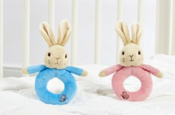 PETER or FLOPSY BUNNY RING RATTLES