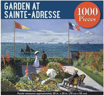 Peter Pauper 1000 Piece  Jigsaw  Puzzle: Garden At Sainte Adresse
