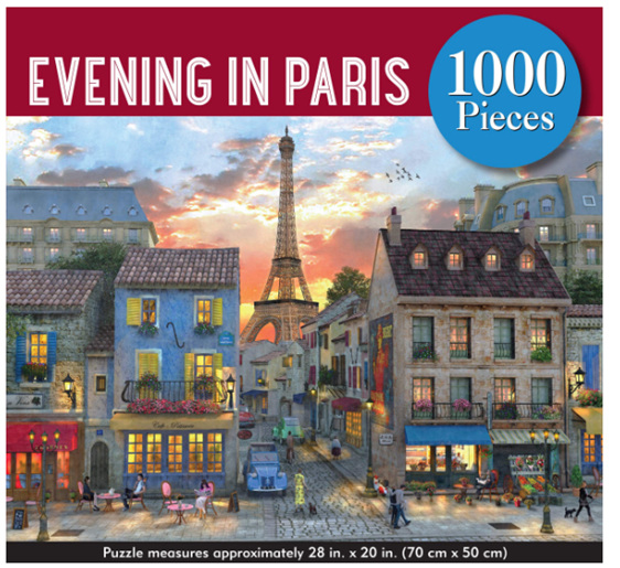 Peter Pauper  1000 Piece  Puzzle An Evening In Paris at www.puzzlesnz.co.nz