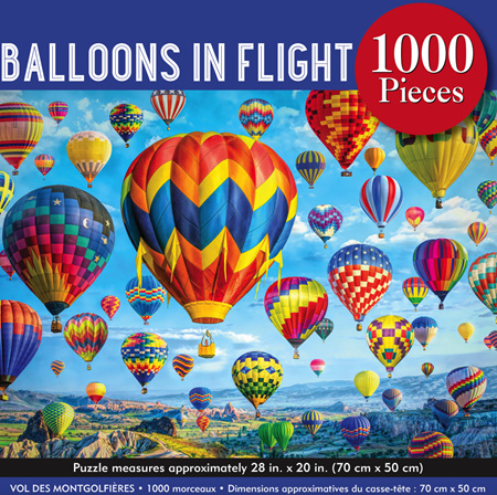 Peter Pauper Press 1000 Piece Jigsaw Puzzle: Balloons In Flight