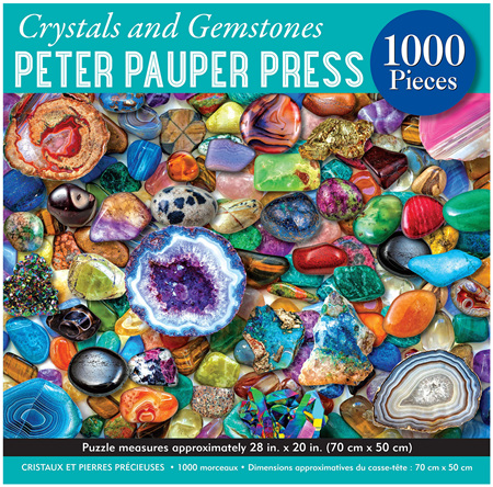 Peter Pauper Press 1000 Piece Jigsaw Puzzle: Crystals and Gemstones