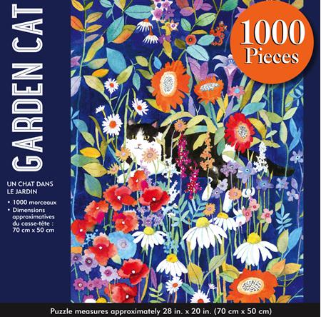 Peter Pauper Press 1000 Piece Jigsaw Puzzle: Garden Cat