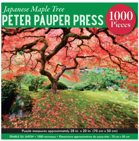 Peter Pauper Press 1000 Piece Jigsaw Puzzle: Japanese  Maple Tree