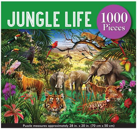 Peter Pauper Press 1000 Piece Jigsaw Puzzle: Jungle Life