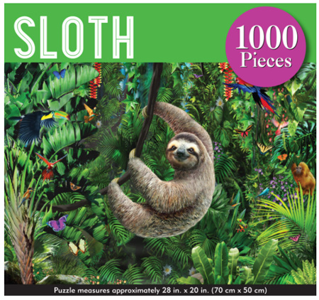 Peter Pauper Press 1000 Piece Jigsaw Puzzle: Sloth