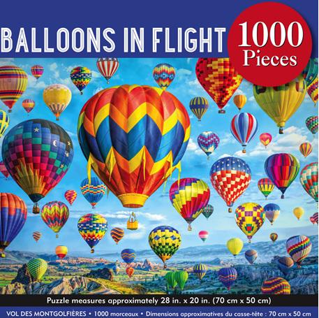 Peter Pauper Press 1000 Piece Jigsaw Puzzle: Balloons In Flight
