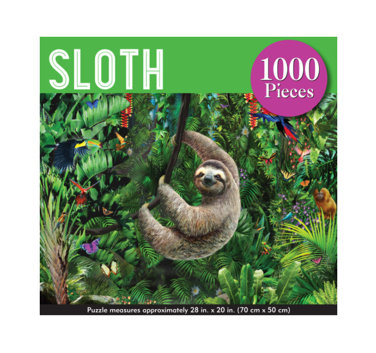 Peter Pauper  Press 1000 Piece  Puzzle Sloth buy at www.puzzlesnz.co.nz