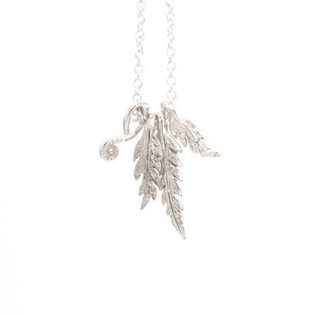 Petite Fern and Koru Necklace