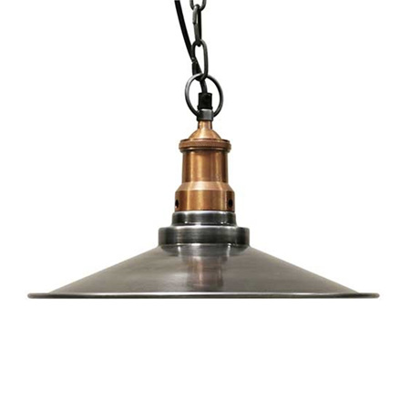 Pewter style coolie hanging light