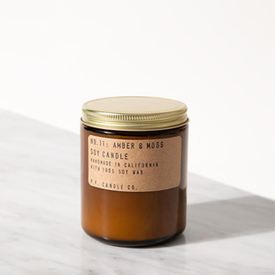 P.F. Candle Co 7.2 oz Soy Candle Amber & Moss