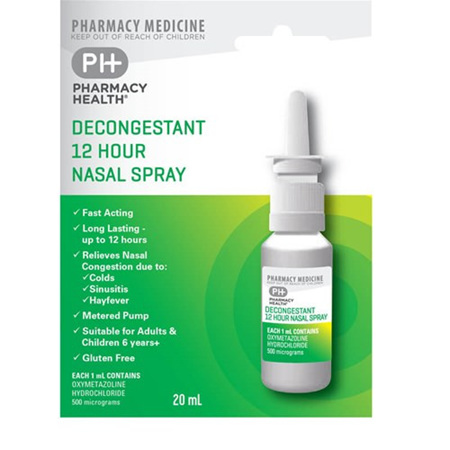 PH DECONGESTANT 12HR NASAL SPRAY 20ML