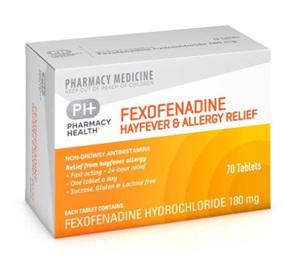 PH FEXOFENADINE HAYFEVER & ALLERGY 70Tab