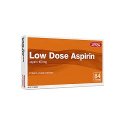 PHARM ACT LOW DOSE ASPIRIN 100MG TAB 84